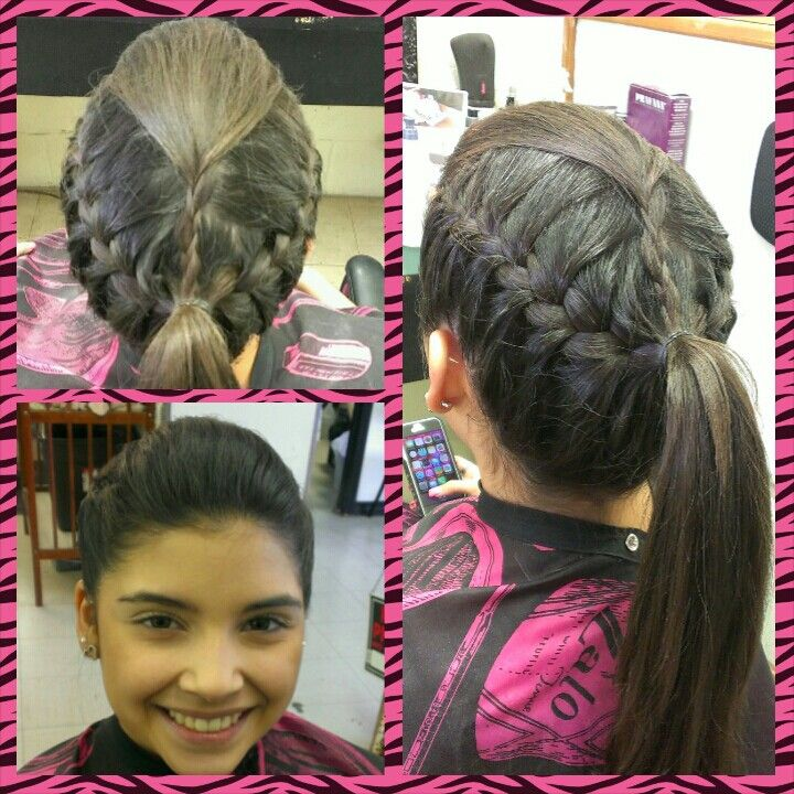 Cheerleader Hairstyles cheerleading hairstyles 2014 2015 02 hair hairstyles Ayssa Gets Cheerleader Hairstyle Ready For Pep Rally With A Bump Braid Pony Tail Combo