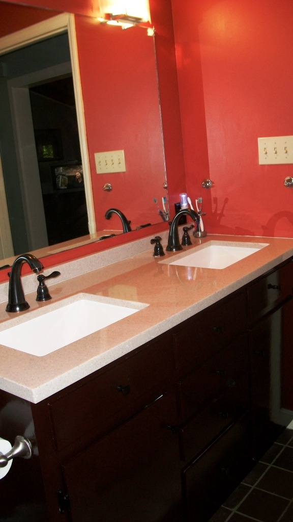 25 best ideas about burnt orange bathrooms on pinterest for Orange and brown bathroom ideas