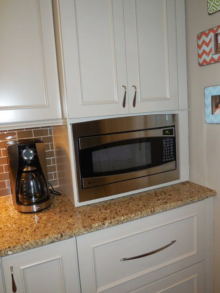 Countertop Microwave To Built In : built in microwave pantry cabinets kitchen redo microwaves pantries ...