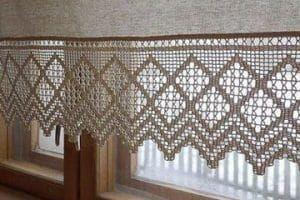 cortinas tejidas a gancho delicadas