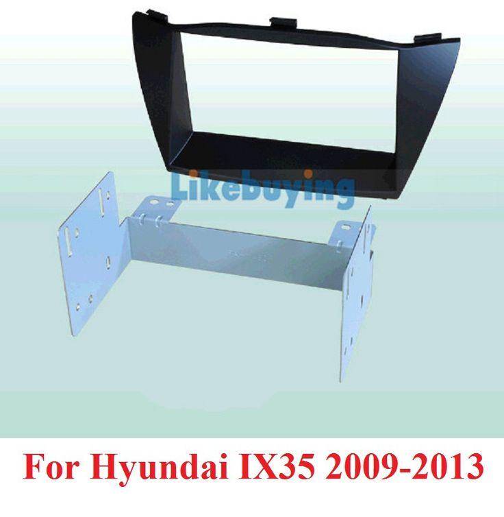 2 Din carro fascia / Car Fascia Panel / Audio Panel Frame / Dash Kit For Hyundai IX35 2009 2010 2011 2012 2013 Free Shipping #Affiliate