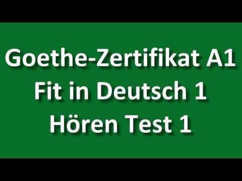 Fit in Deutsch 1 Listening Test 1 - YouTube