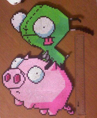 Ride the Pig Perler by AlwaysLoveLorn.deviantart.com on @deviantART