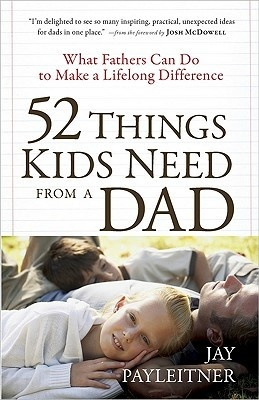 52 Things Kids Need from a Dad I love this book and gave it to a couple of special single dads as a Christmas gift last year. I don't agree with all 52 things and some of it seemed a bit too religious for my taste but overall it has great ideas  I found it to be quite inspiring! I love the mom version too and keep it on my nightstand.