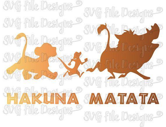 Hakuna Matata Lion King Disney Shirt Decal Cutting File ...