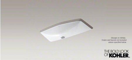 "KOHLER® Man's Lav™ Undermount lavatory Sink, 8"" Widespread Faucet Holes"