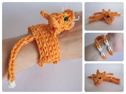 Loombicious 3D cat bracelet Rainbow Loom - YouTube