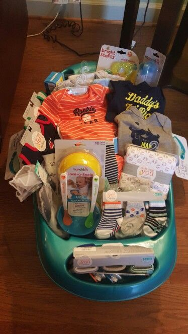 Gift basket bathtub for baby shower