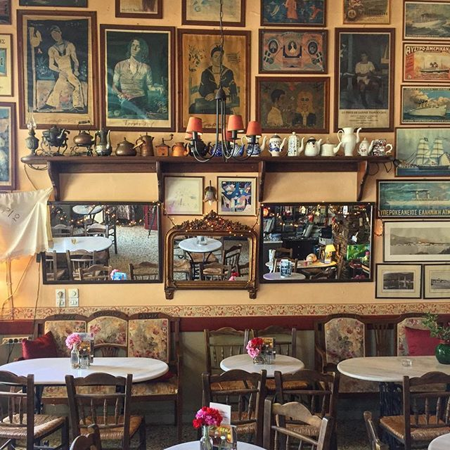 Andros, Greece... One of the beautiful traditional coffee shops of Andros. #theflyinggreek