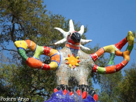 Ambra al Giardino dei tarocchi di Niki de Saint Phalle Capalbio