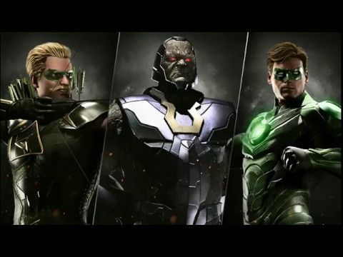 Injustice 2 Multiverse, Darkseid,Green Lantern and Green Arrow Gameplay ...