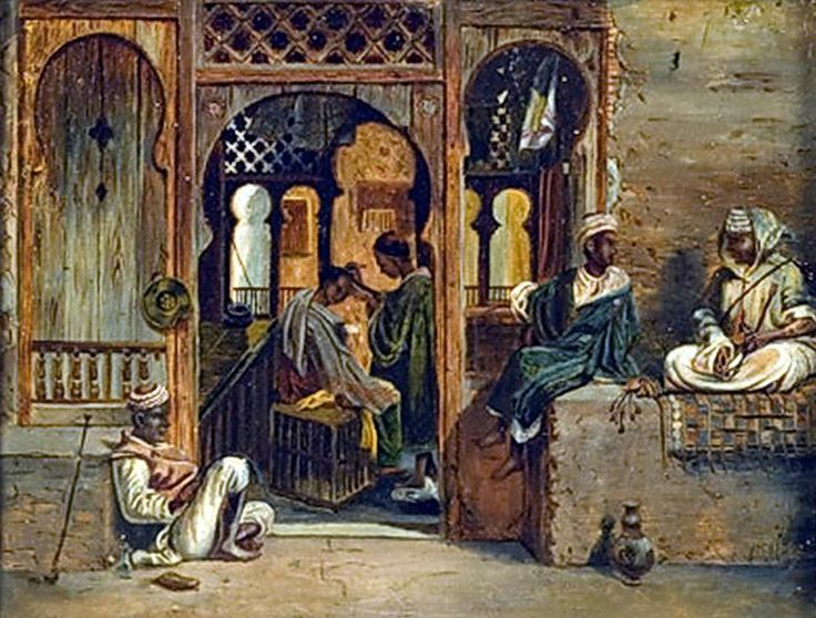 Orientalist Street Scene By John Frederick Lewis (English , 1805 - 1876 ) Oil on canvas