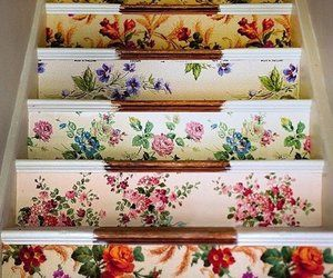 DIY Idea: Wallpapered Stairs — Sarah Moore Vintage | Home Decor News