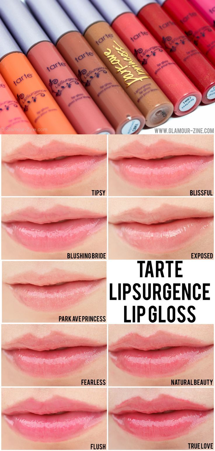 @Tarte cosmetics LipSurgence Lip Gloss review, photos and swatches via @Glamourzine