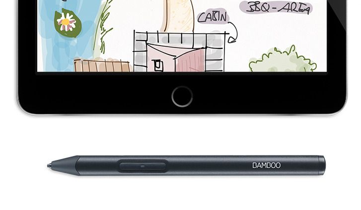 Wacom Bamboo Sketch iOS stylus offers pressure sensitivity to non-iPad Pro users