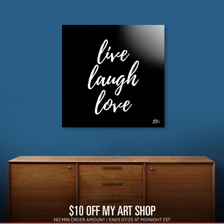 Discover «live laugh love», Numbered Edition Acrylic Glass Print by Elina Koutsokera - From 70€ - Curioos