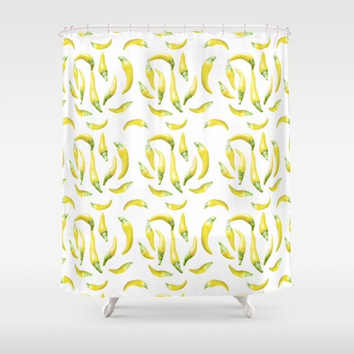 Chilli Pepers Pattern Shower Curtains