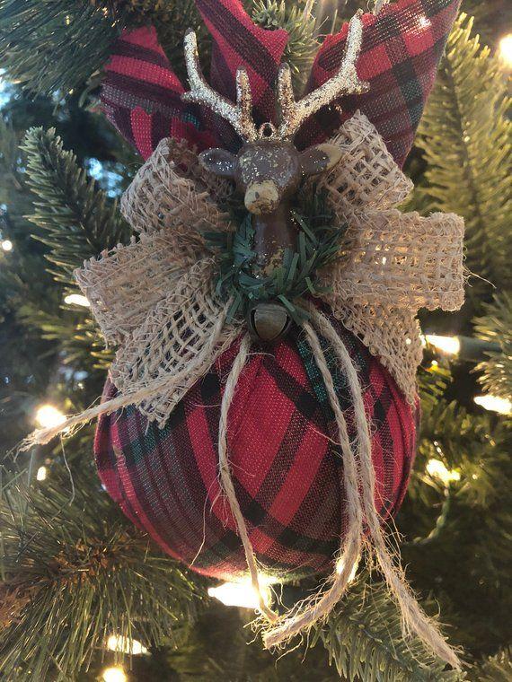 Reindeer Christmas Ornaments Set Of 2 Rustic Xmas Ornaments Rustic Reindeer Christmas Ornaments Reindeer Vintage Ornaments Christmas Ornaments Christmas Ornament Sets Western Christmas Tree Ornaments