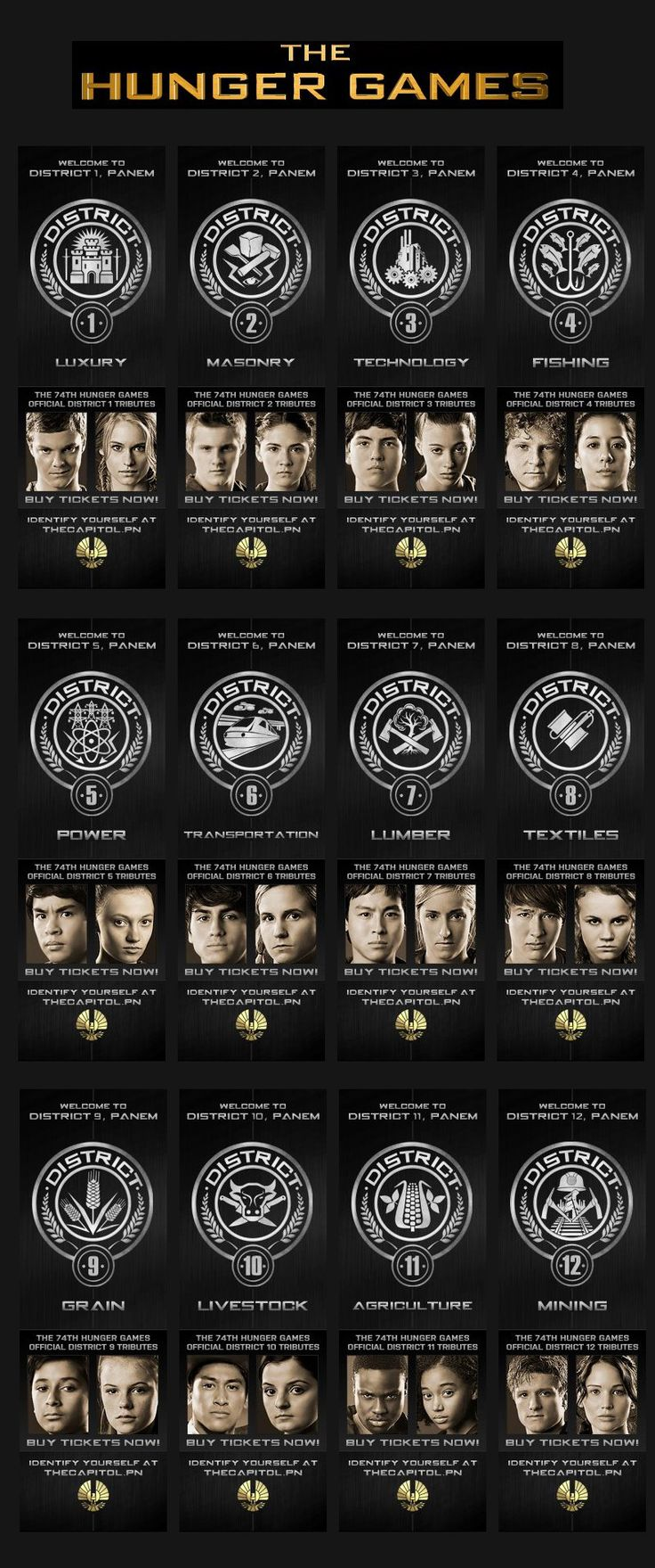Hunger Games district medallions