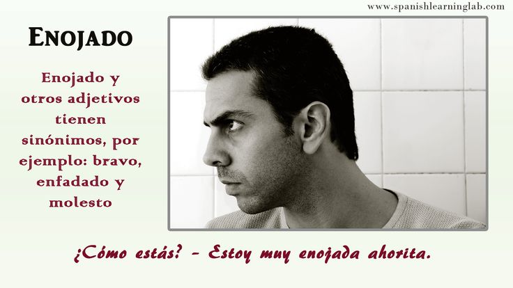How are you? – I am angry right now. Enojado and other adjectives have synonyms, for example: bravo, enfadado and molesto.  http://www.spanishlearninglab.com/feelings-emotions-in-spanish/