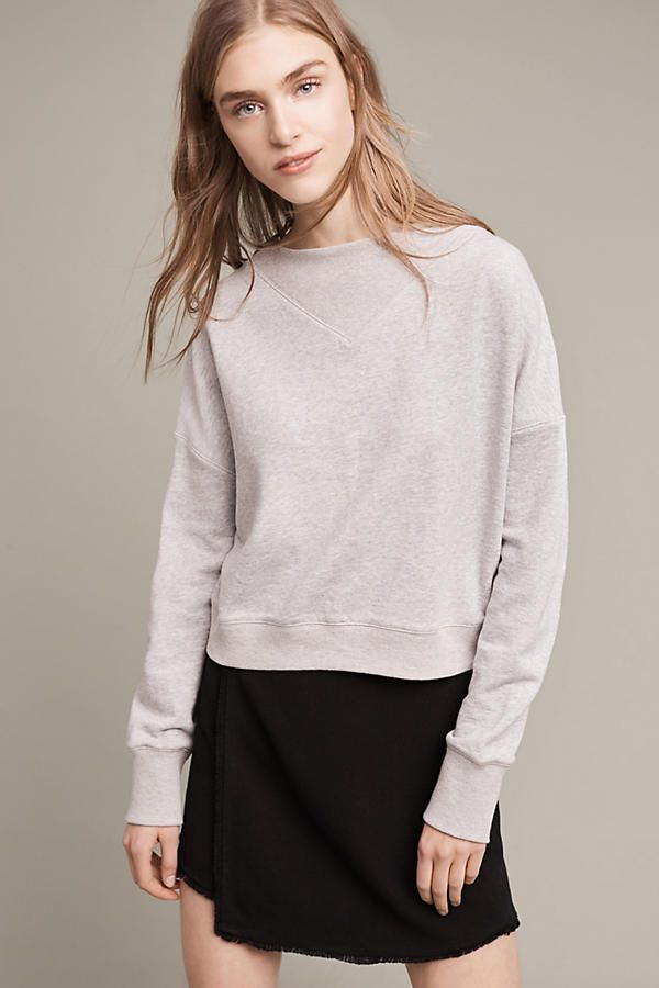 Slide View: 1: Heather Ribbed Pullover