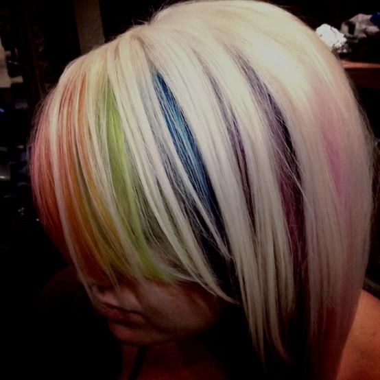 LOVE Her Hair--now THAT's The Kind Of Peekaboo Color That
