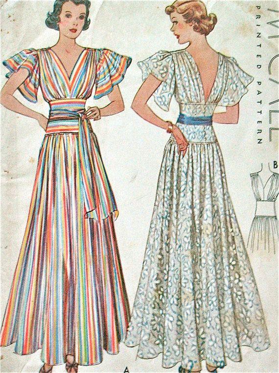 McCall 9321 | ca. 1937 Evening Dress