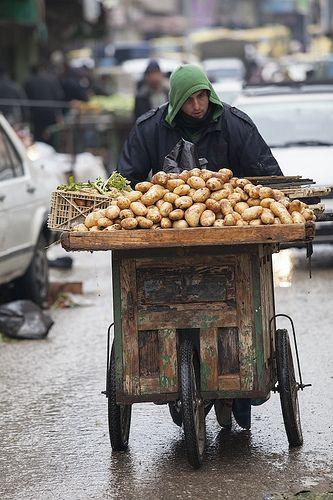 Potatoes for sale, Hebron, Israel by BreakTheLogic