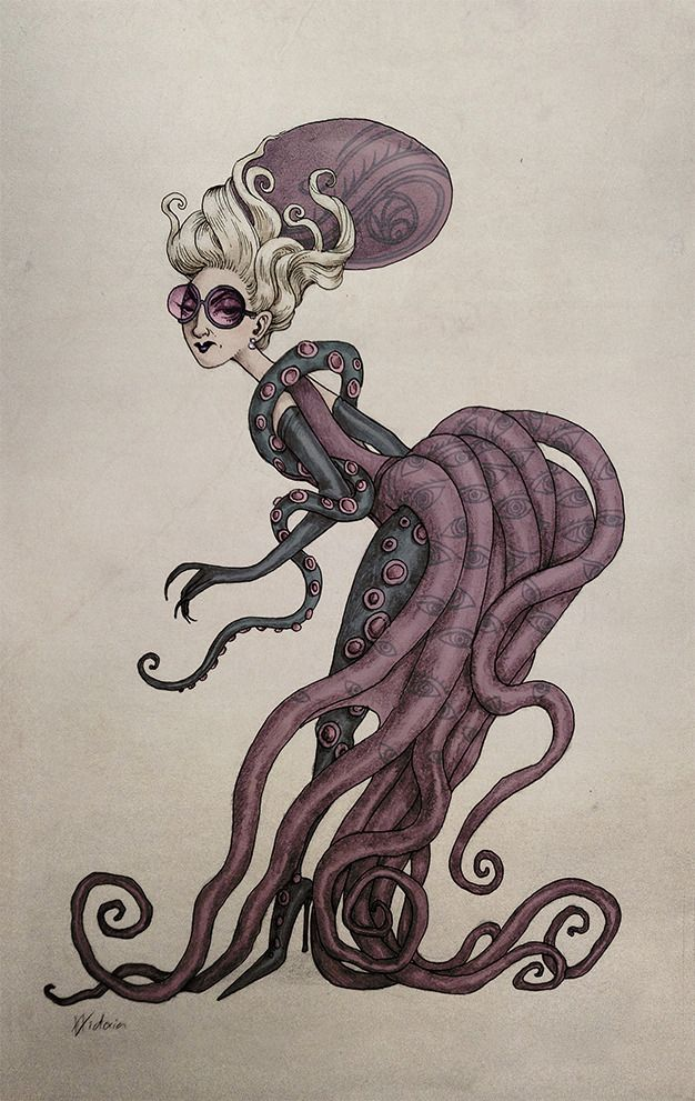 Esme Gigi Geniveve Squalor With Her Octopus Dress In The Grim