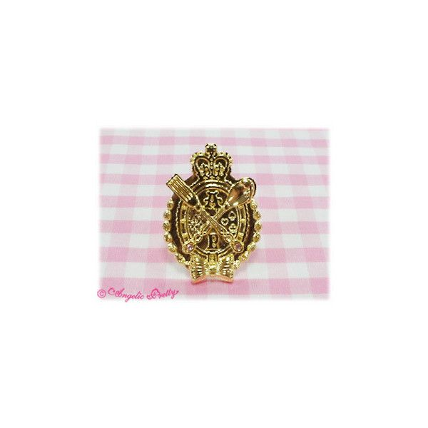 Chess Chocolate Emblem Ring ❤ liked on Polyvore featuring jewelry, rings, angelic pretty and chocolate rings