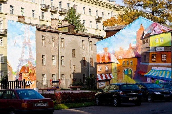 СПб, ул. Молдагуловой, Парижский дворик