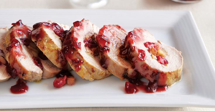 Cranberry Pork Tenderloin with Port Sauce