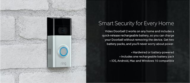 Ring Video Doorbell 2 features