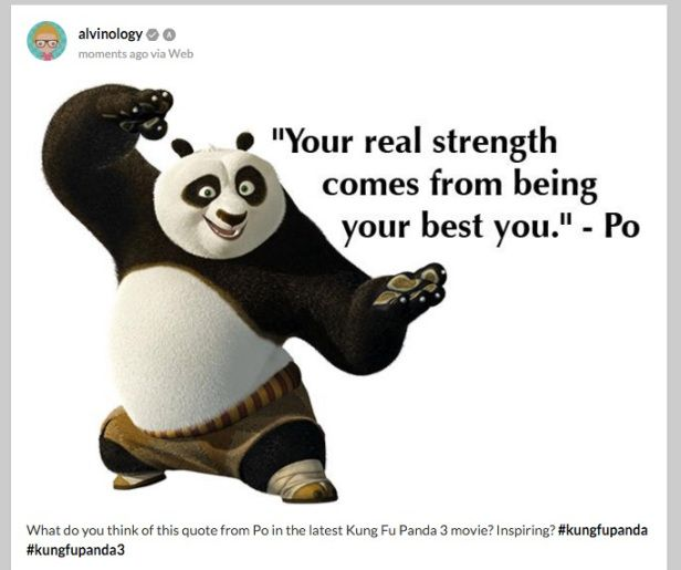 Bringing you the best quotes of KungFu Panda… Subtle, Simple and powerful..
