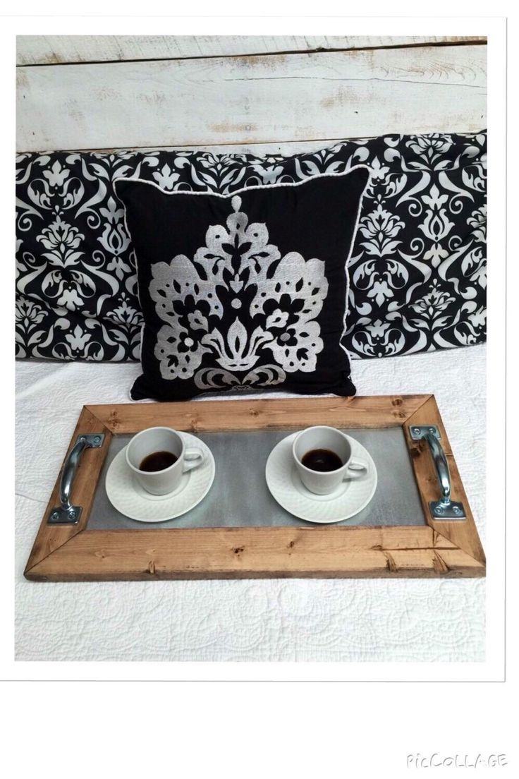 Rustic Industrial Tray, Wooden Tray, Ottoman Tray, Coffee Table Tray,  Industrial Tray