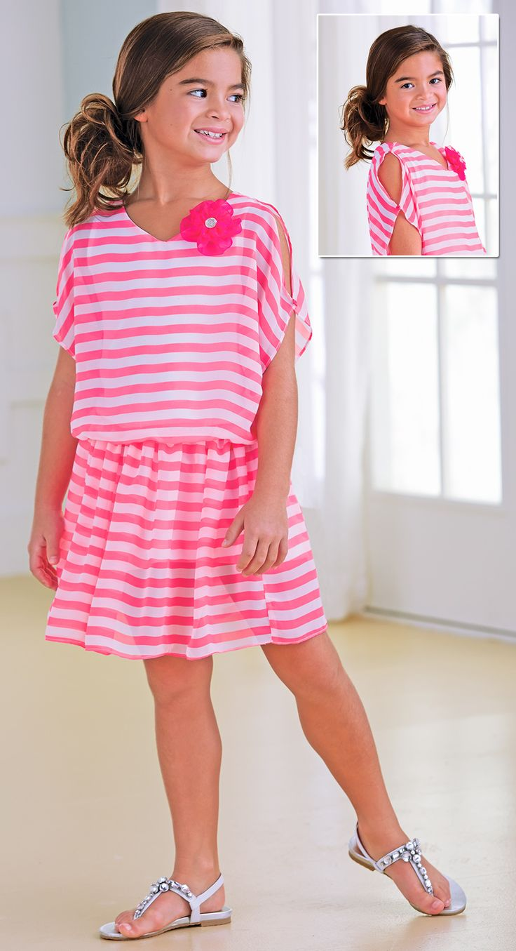 From CWDkids: Open Shoulder Stripe Dress