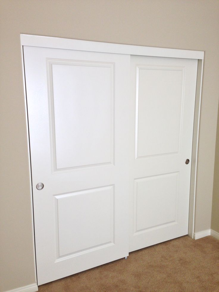 In This Recently Installed Project You Will Find A Hollow Core Molded Panel Closet  Door Bypass