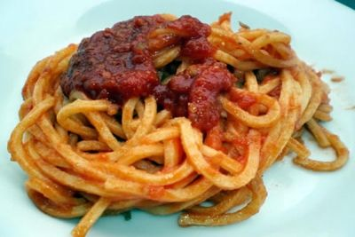 Spaghetti alla chitarra con 'nduja