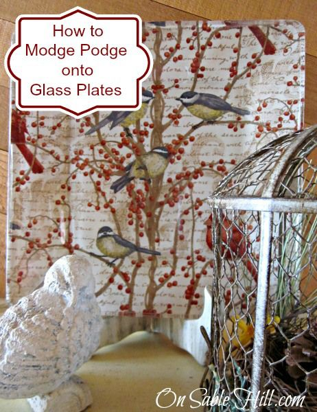 How to create your own plate designs with Modge Podge. Easy tutorial with beatiful results!