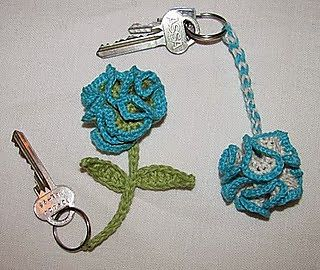 "Free Owl Crochet Keychain Pattern Free Crochet Chapstick / Lip Balm Holder Keychain Pattern 1"" Nickle D-Ring ..."