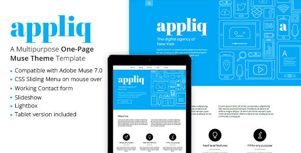 Appliq - One Page Muse Theme (Creative)