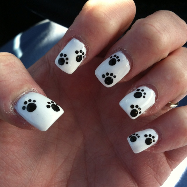 Paw print nail design!! @bethwheelerwash for our PBR activity? - Top 25+ Best Paw Print Nails Ideas On Pinterest Dog Nails, Paw