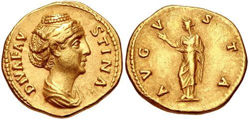 CNG: eAuction 389. Faustina Senior. Augusta, AD 138-140/1. AV Aureus (19mm, 7.13 g, 6h). Rome mint. Struck under Antoninus Pius, circa AD 146-161.
