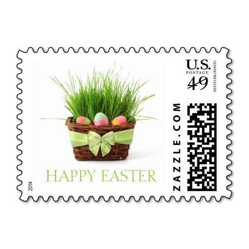 Easter Basket stamps. This is customizable to put a personal touch on your mail. Add your photos or text to design your own stamp that can be sent through standard U.S. Mail. Just click the image to try it out!