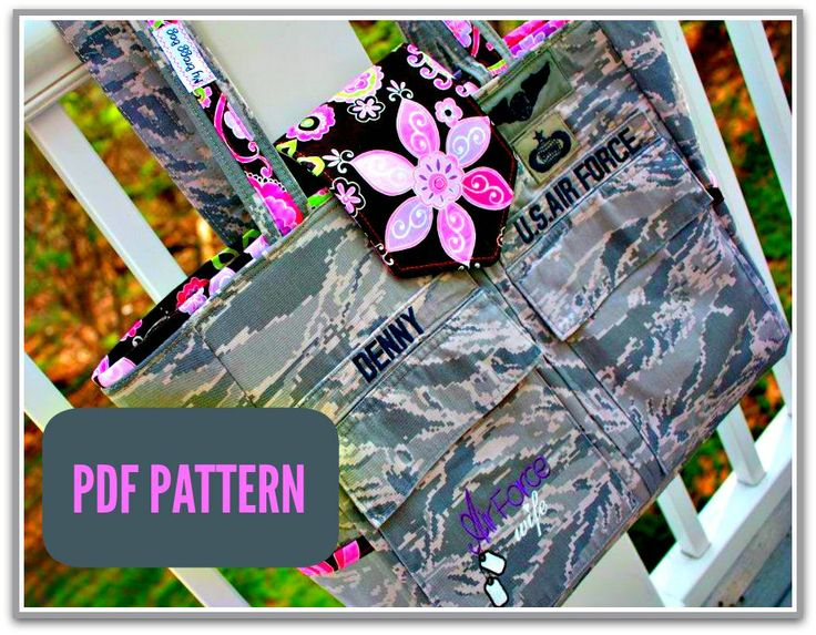 This PDF sewing pattern is for military uniform purses for the Army, Navy, Air Force, Coast Guard, Marines and even can be used for fire fighters, police or sports uniforms and is available in multiple sizes by My Bragg Bag