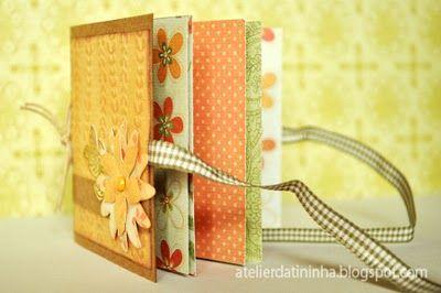Mini Album com papeis decorados #tinymini #papercraft #tutorial #PAP #DIY