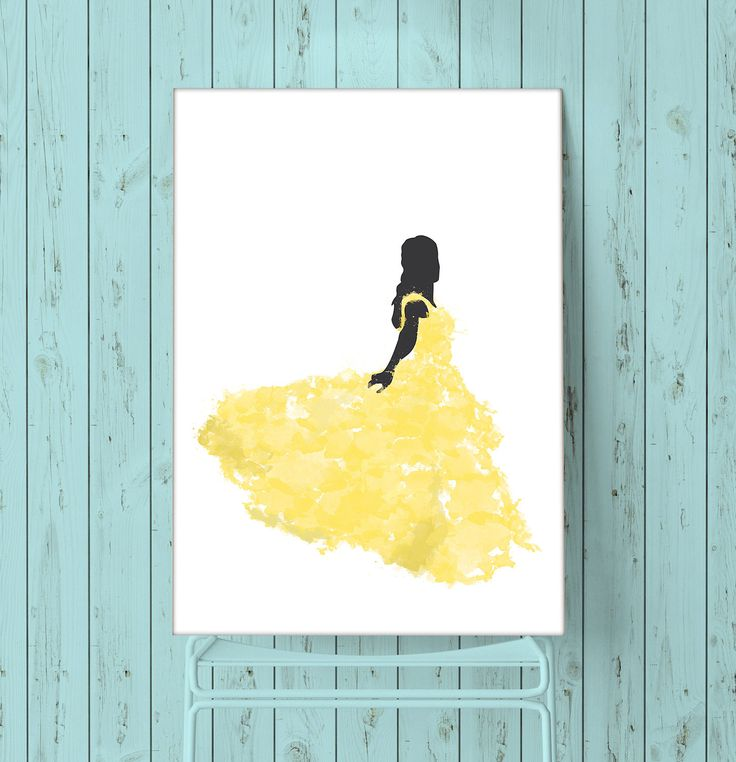 Beauty And The Beast Belle Water Colour Poster - 5 File Download by Jamsnovelties on Etsy