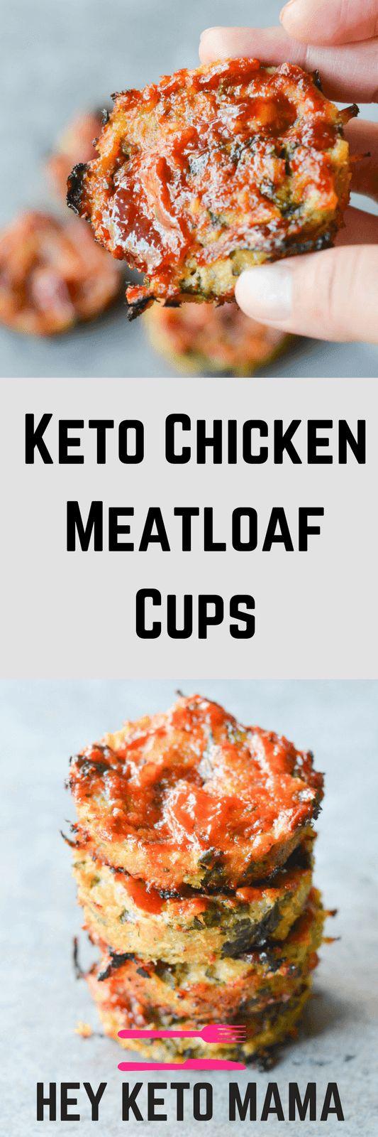 Easy Keto Chicken Meatloaf Cups Recipe
