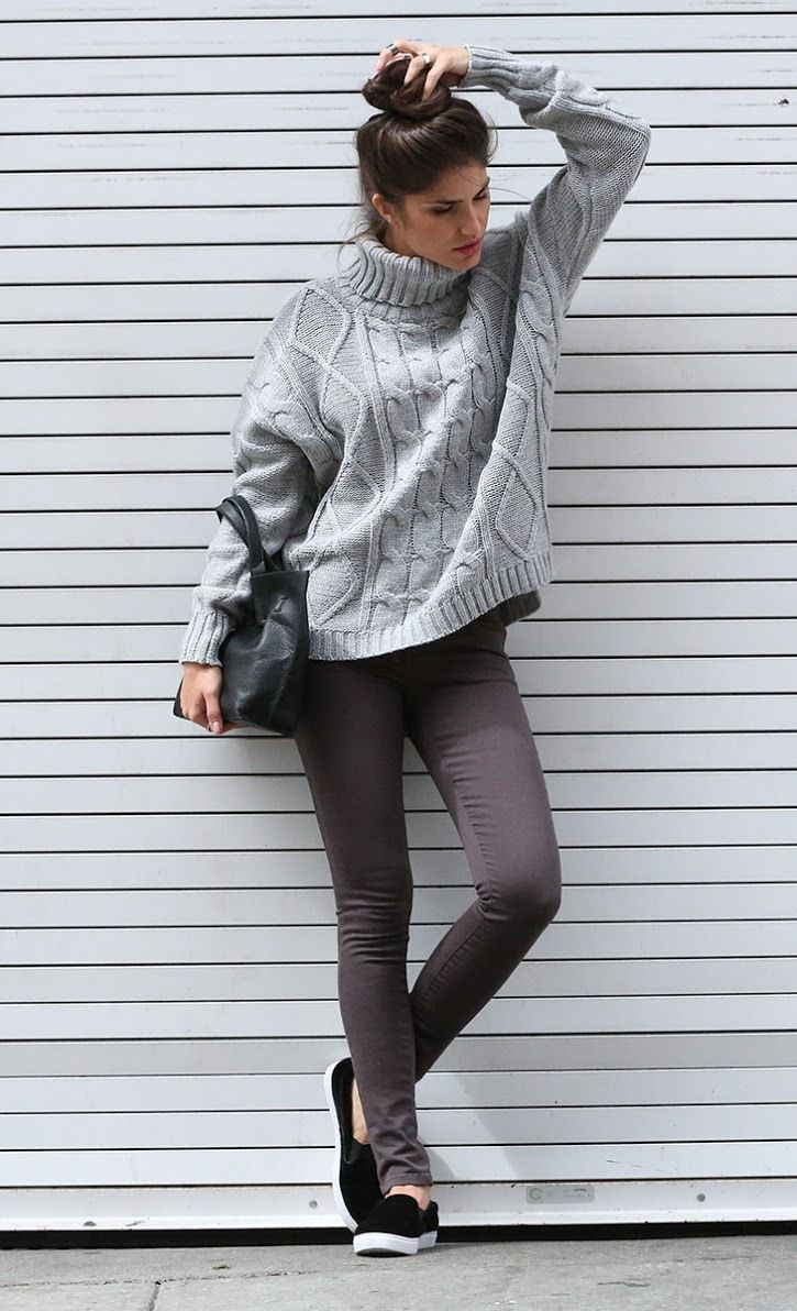 Love a comfy cable knit sweater.