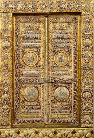 Gold door in Quatar